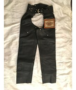 Harley Davidson Women's Leather Chaps Size Extra Small Elastic Belted  - $249.95