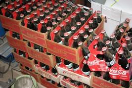 350 Promo 90s Coke Bottles Short 8 oz Glass Still Full Carrier Carton 14... - $43.54
