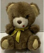 Vintage 1980 Amtoy Mini Plush Brown Teddy Bear Pantry Pets Rare Yellow B... - $29.99