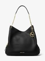 Michael Kors Women's Lillie Large Shoulder Tote Handbag - Black #21 - $129.99