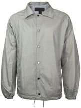 Renegade Men's Lightweight Water Resistant Button Up Windbreaker Coach Jacket image 10