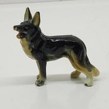 """UNBRANDED LITTLE PORCELAIN GERMAN SHEPARD DOG FIGURINE 2"""" (fl) - $11.88"""
