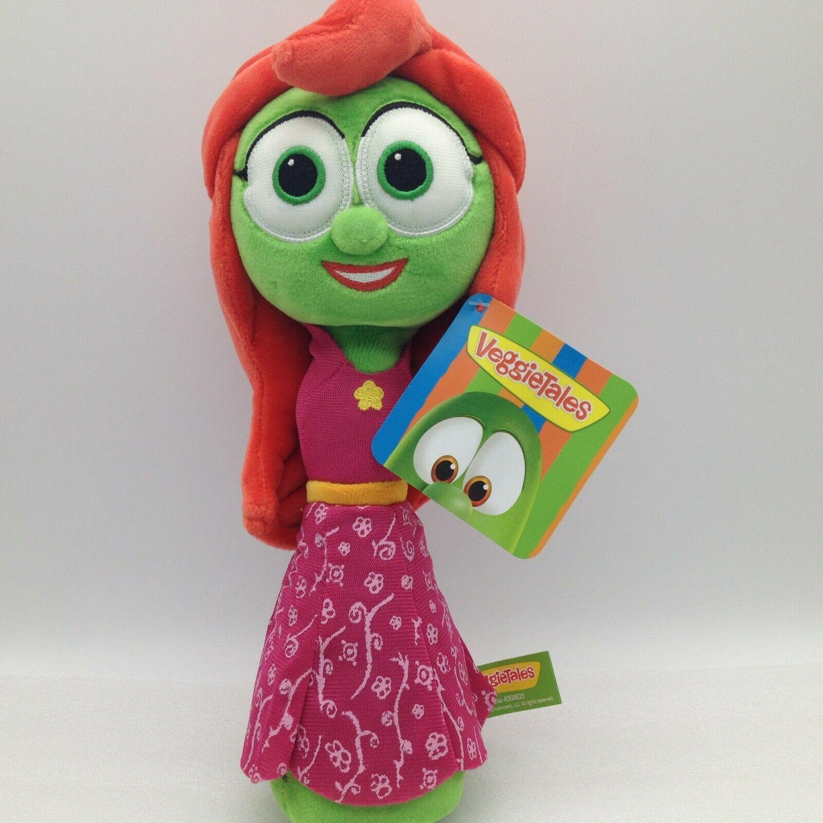 "Enesco Veggietales Petunia Rhubarb Plush Doll Toy 11"" Tall Super Soft Veggie image 3"