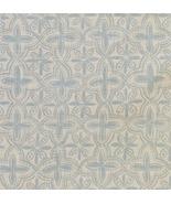 9.6 Yards Premier Prints MM Designs Aqua Diagonal Quatrefoil Medallion Fabric - $115.99