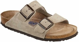 Womens Birkenstock Arizona Sandals - Taupe Suede, Size EUR 36/US 5 - £116.06 GBP