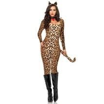 Leg Avenue Women's Cougar Catsuit Costume Leopard Small - $57.42