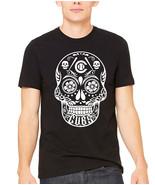 sugar skull t shirt, baseball softball skull day of the dead floral unis... - $19.79+