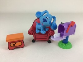 Blues Clues Deluxe Play Along Friends Figures 4pc Lot Blue Mailbox Just Play  - $34.60