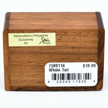 Northwoods Wooden Parquetry Nautical Ocean Marine Whale Tail Mini Trinket Box image 5