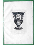 ORIGINAL ETCHING Print - Porcelaine Vase from Sevres - $29.70