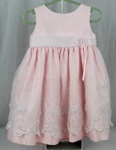 Cinderella toddlers girls party dress polyester rose size 24 months - $13.00