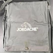 Vtg Jordache Nylon School Tote Shoulder Messenger Book Bag Grey Ruler No... - $18.76 CAD