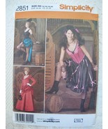 Simplicity Costume Pattern 2851 14-22 Moulin Rouge Saloon Maid CanCan Bu... - $8.99