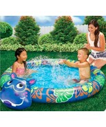 "Banzai Beach Buddy HIPPO Pool With Built In Sprinkler - 60"" Diameter NEW - $24.92"