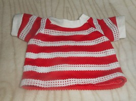 BLUE STRIPED KNIT TEE SHIRT for DOLL LIKE CABBAGE PATCH SIZE - $4.99