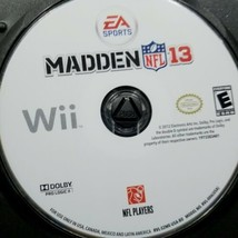 Madden NFL 13 Nintendo Wii 2013 Generic case No Cover - $15.83