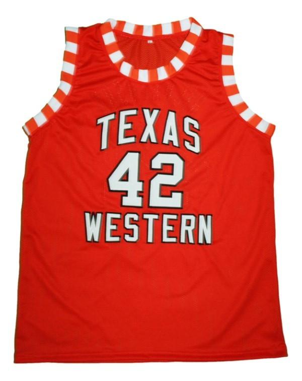 Nolan richardson texas western basketball jersey orange   1