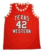 Nolan Richardson #42 Texas Western New Men Basketball Jersey Orange Any ... - $34.99
