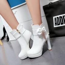 83B005 elegant rhinestones & chain fringe booties US Size 4-8.5, white - $58.80