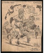Freddie Lynn Red Sox Sports Cartoon Newspaper Clip Vintage Baseball Sketch - $10.99