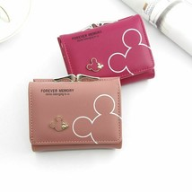 Clutch Wallet Cartoon Mickey Faux Leather Purse Ladies Women Short Card ... - $11.34 CAD