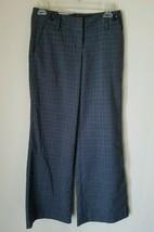 NWT Guess Jeans Women's Gray Charcoal Sparkle Plaid Dress Pants 24 - $15.98