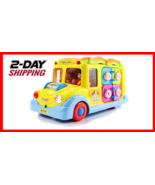 fisca Intellectual Musical School Bus, Learning Educational Toys for Baby & Todd - $37.69