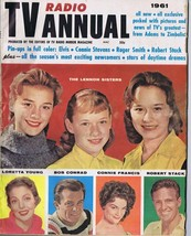 ORIGINAL Vintage 1961 TV Radio Annual Lennon Sisters Loretta Young - $18.51