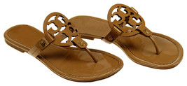 Tory Burch Miller Thong Flip Flops Sandals Patent Brown Size 10 M Pre Owned - $138.59