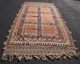 "Antique Persian Iran Kilim Tribal Oriental Rug 60"" x 102""  - $2,200.00"