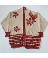 Vintage ESCADA Cardigan Sweater Women's Large Open Front Cotton Knit - $89.00