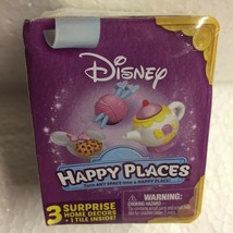 Disney Happy Places Mystery Pack 3 Home Decors 1 Tile Surprise Book Princess New - $2.96