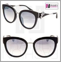 JIMMY CHOO JADE Black Silver Mirrored Detachable Crystal Jewel Fan Sunglasses - $272.25