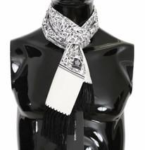 Dolce & Gabbana Mens White Musical Brass Jazz Instruments Print 100% Sil... - $133.65