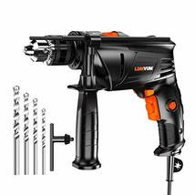 Hammer Drill, LOMVUM 1/2 In. 6.75 Amp Variable Speed dual-mode Impact Drill with image 9