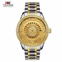 TEVISE Men Automatico Mechanical Watch Skeleton  Zodiac Watches Self-win... - $57.60