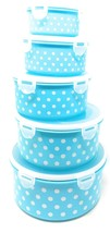Plastic Food Storage Containers Reusable Prep Lock Lids Stacking 5 Piece... - €16,34 EUR