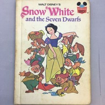 Walt Disney 1973 Snow White And The Seven Dwarves Book World Of Reading ... - $8.99