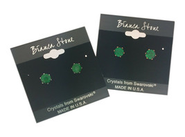 Bianca Stone May Birthstone Stud Earrings With Crystals Made By Swarovski - $12.99