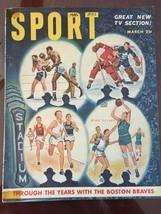 Sport Magazine March 1951 Boston Braves Baseball Hockey Boxing Track 96 ... - $8.09