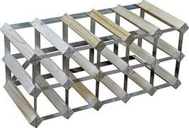Wine Rack Wooden Metal Frame Stable Kitchen Bar 15 Bottle Holder 3 Tier Storage  - $35.34