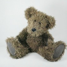 Boyds Bean Weighted Jointed Fuzzy Bear 16 inch Vintage Brown Long Hair - $23.33