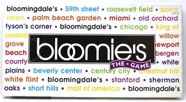BLOOMIE'S THE GAME BLOOMINGDALE'S DEPARTMENT STORE BOARD GAME LATE FOR T... - $14.20