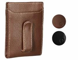 Timberland Men's Premium Genuine Leather Money Clip Credit Card Id Wallet
