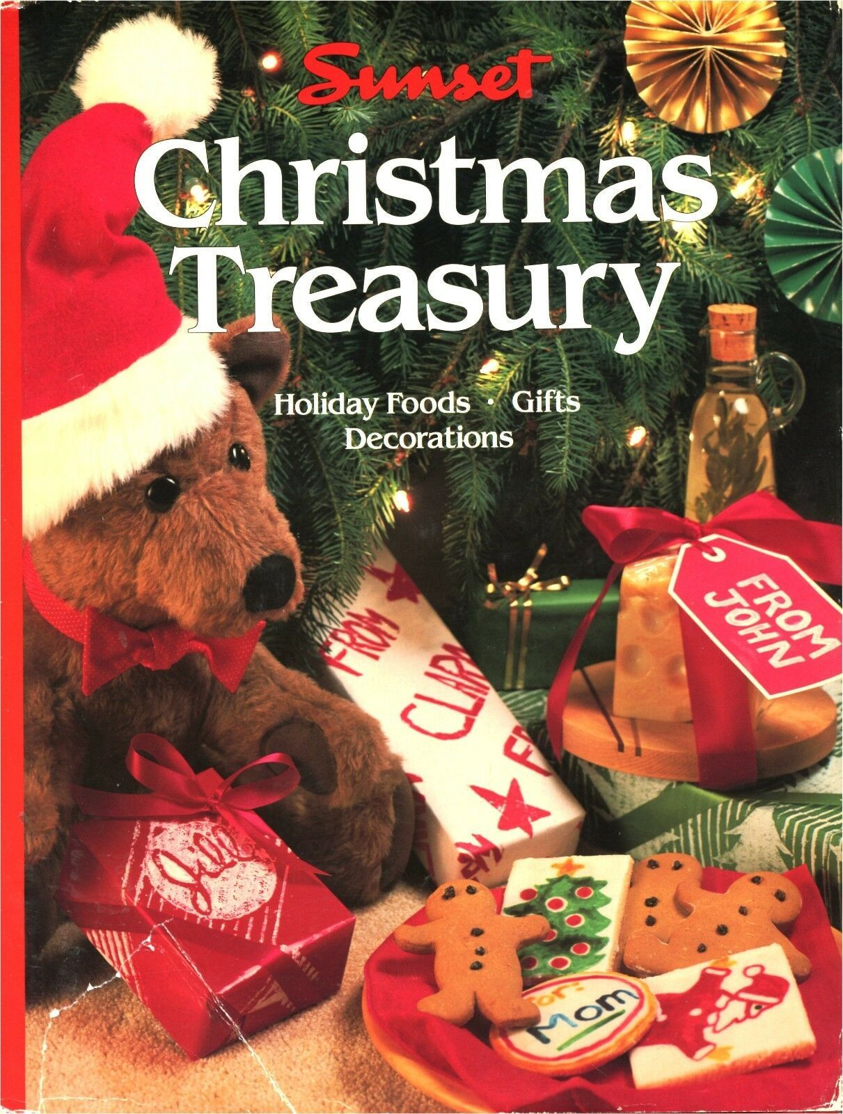 Sunset CHRISTMAS TREASURY Holiday Foods Decoration Gifts Hardcover Dustjacket