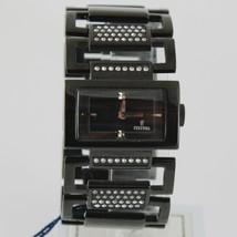 FESTINA LADY WATCH QUARTZ MOVEMENT RECTANGULAR 30 MM CASE BLACK FACE AND BAND image 1