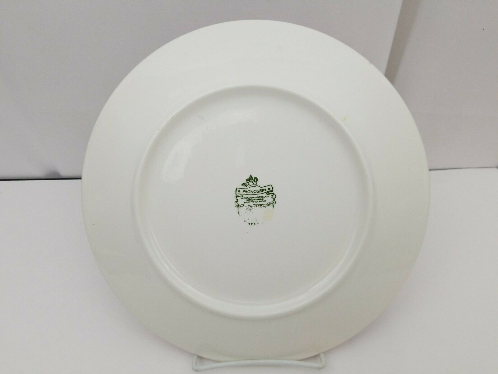 """Pagnossin Trevisco Dinner Plate 10 5/8"""" Ironstone Spa Rust, Italy LD06 Dish Safe image 2"""
