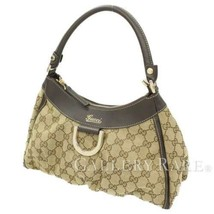 GUCCI Abby Shoulder Bag GG Canvas Leather Beige 190525 Italy Authentic 5... - $353.14