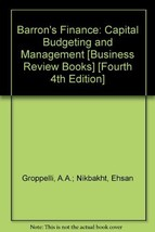 Barron's Finance: Capital Budgeting and Management [Business Review Book... - $10.00