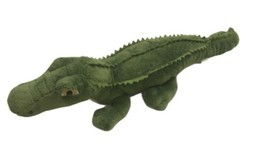 "17"" Long Green American Alligator Wildlife Artists Reptile Plush Stuffed - $29.69"